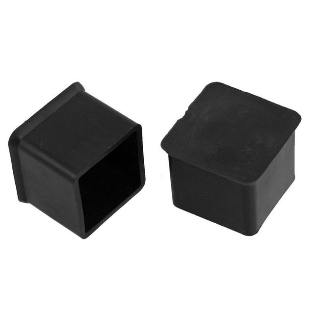 "T-Best Price Newest 10 Pcs Black 1"" x 1"" Furniture Square Rubber Foot Covers Protectors"