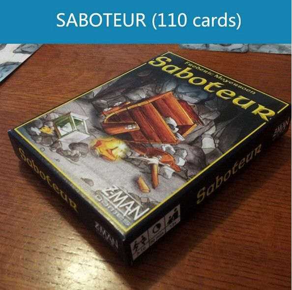 Board game table game card playing, English saboteur 1 /  saboteur 2 expansion, plastic sealed, VIP pack/simple pack optional