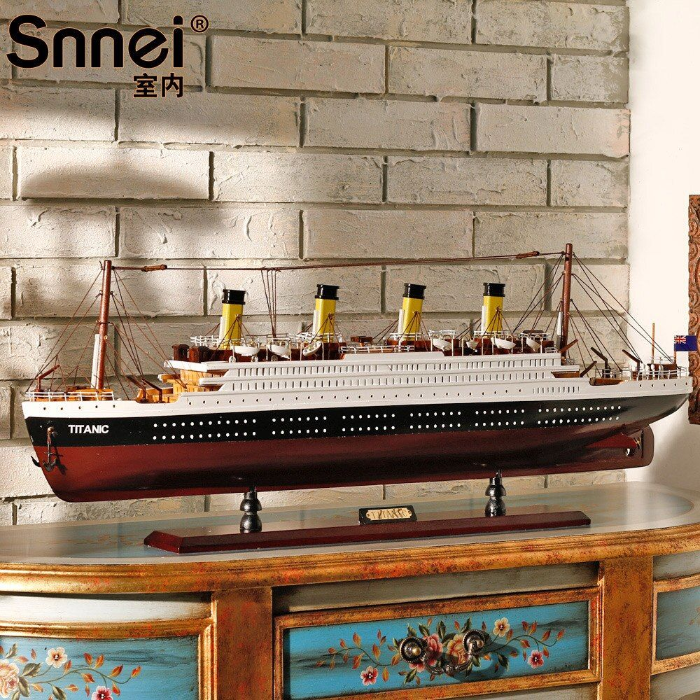 80CM-100CM Big Size Titanic Ship Model Toys Solid wood ship model kit with ELD lights holiday gifts Christmas gifts
