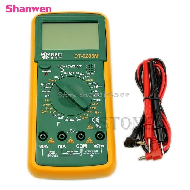 DT9205M Digital Multimeter Voltmeter Ammeter Ohmmeter Capacitance Tester LCD New G08 Drop ship