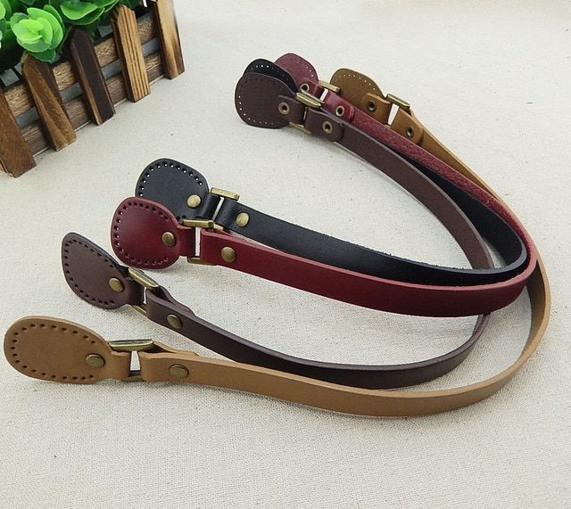 wholesale 10pcs=5pairs/lot  first layer cow leather DIY bag handle accessories.50CM genuine leather bag straps /handles