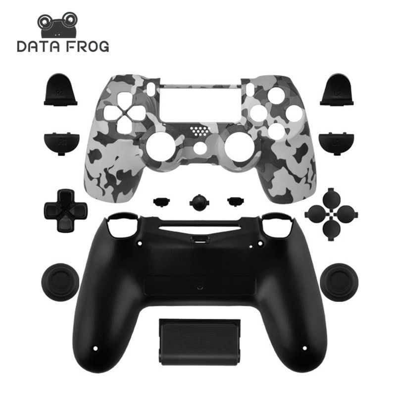 Data Frog Custom Camouflage Cases For PS4 Limited Edition Controller Replacement Housing Shell For Sony Playstation 4 Gamepad