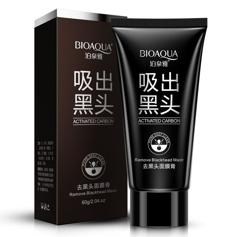 BIOAQUA Suction Black Mask Deep Cleansing Nose Blackhead Remover Facial Mask Black Head Acne Black Mud Face Mask Beauty Skincare