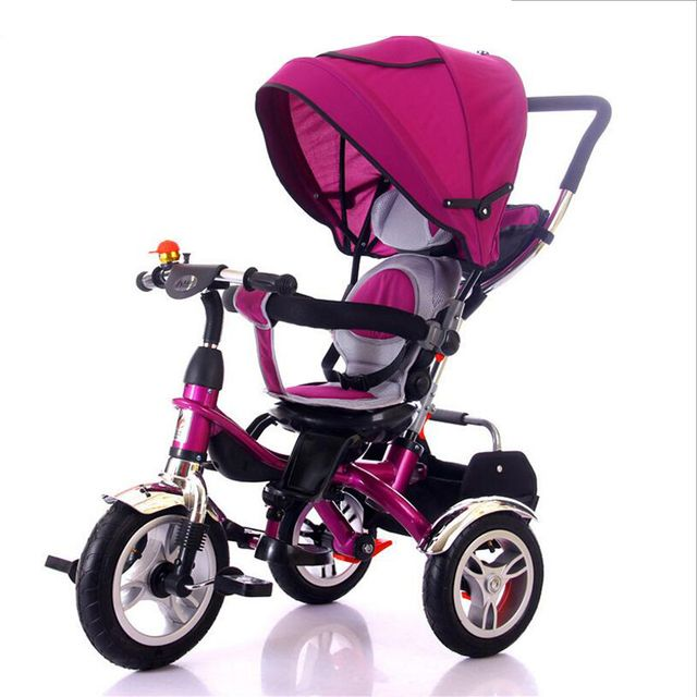 2018 new children's tricycle seat can rotate children's bicycles to ride tricycles for 6 months to 8 years old