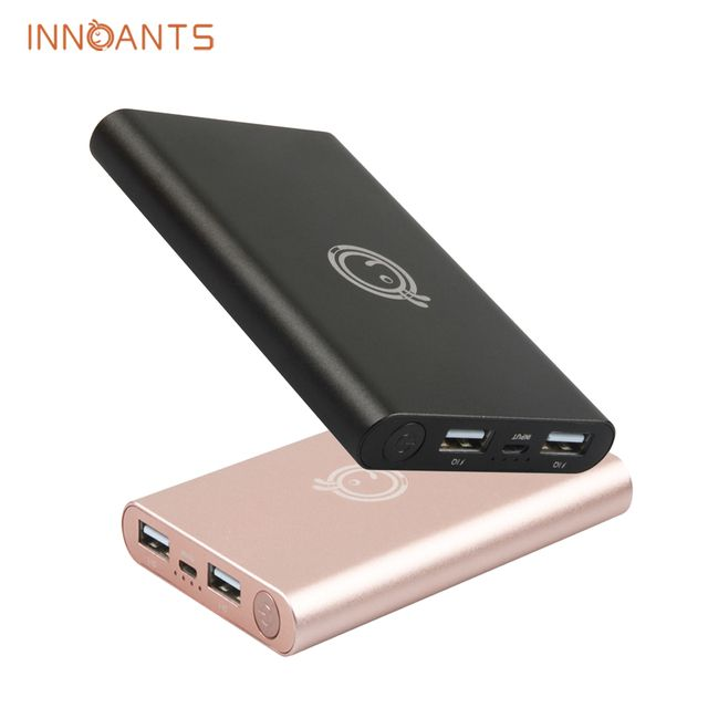 2016 New Original Innoants Power Bank 10000mAh Dual USB Portable External Battery Charger for Apple Xiaomi Mobile Phone Tablet