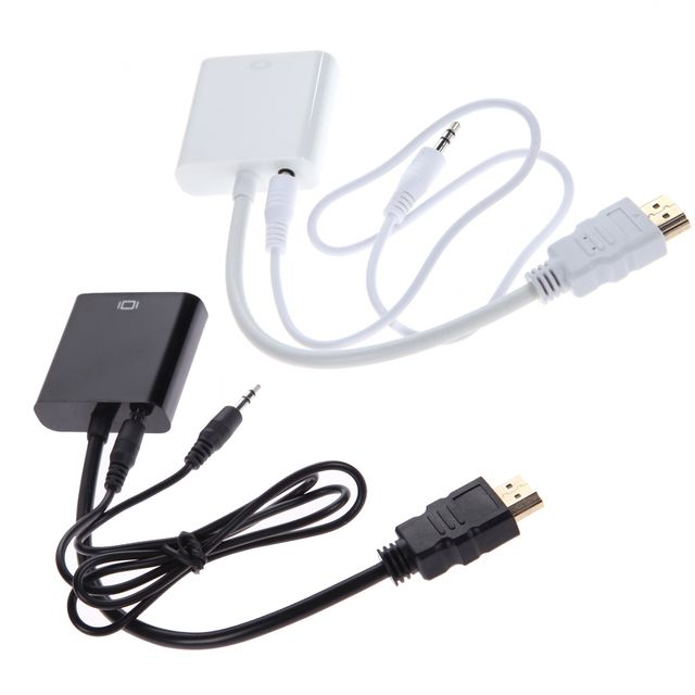 480p/720p/1080i/1080p Micro HDMI/Mini HDMI/HDMI to VGA Converter Adapter convert the HDMI digital signal to VGA analog signal