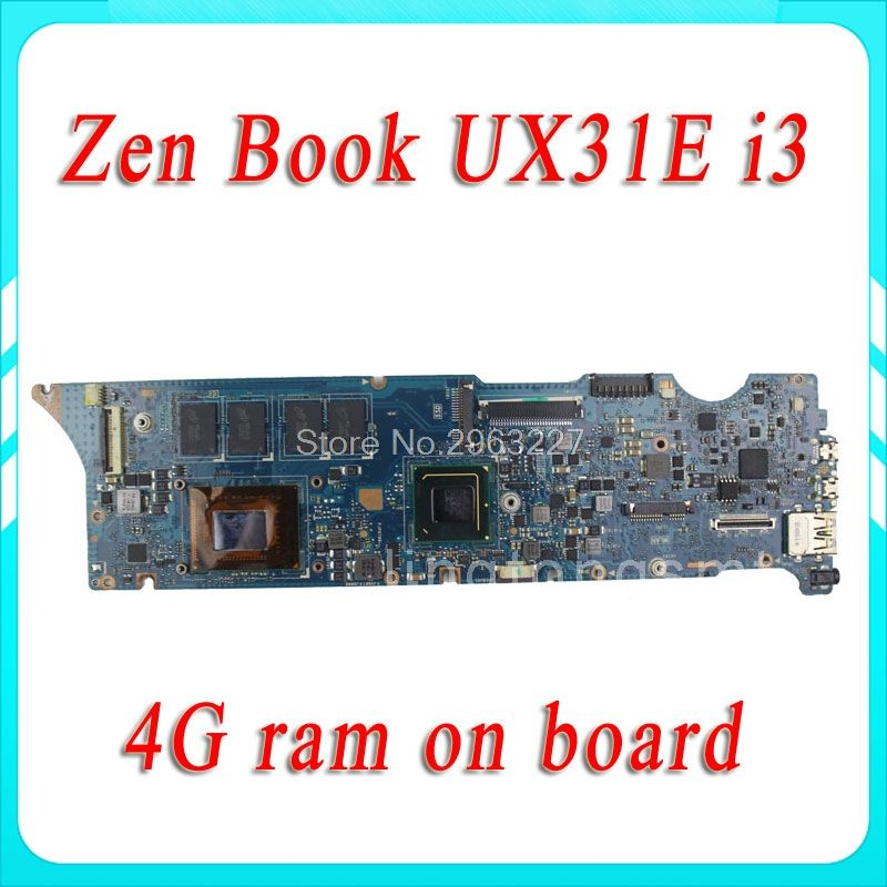 UX31E for ASUS motherboard REV3.2 Mainboard Processor i3 4G Memory on board 100% tested