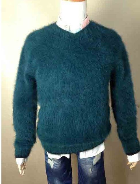 Men New genuine mink cashmere sweater pullovers mink sweater free shipping  035