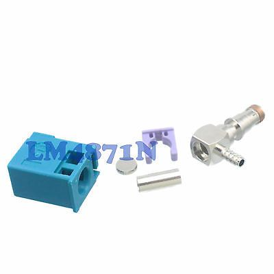 1pce Connector Fakra Z 5021 Water Blue SMB female right angle RG174 RG316 LMR100
