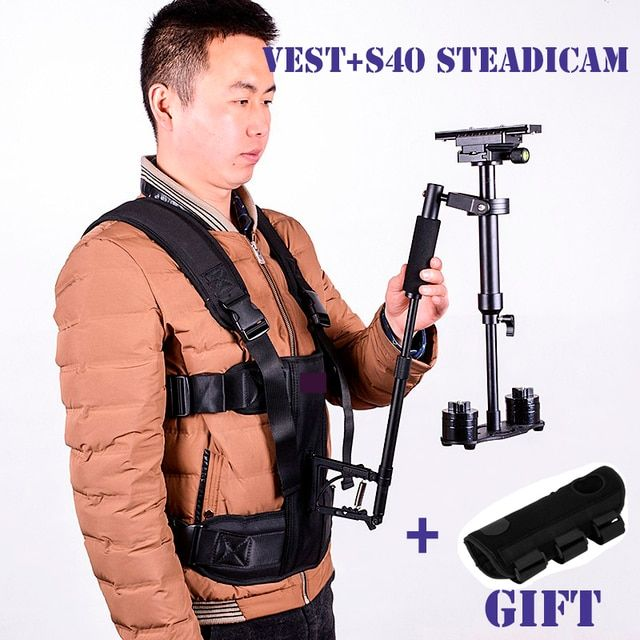 DIGITALFOTO DSLR steadicam vest handheld camera stabilizer video steadicam s40 steadycam 5D2 filmmaking for Nikon Canon Sony