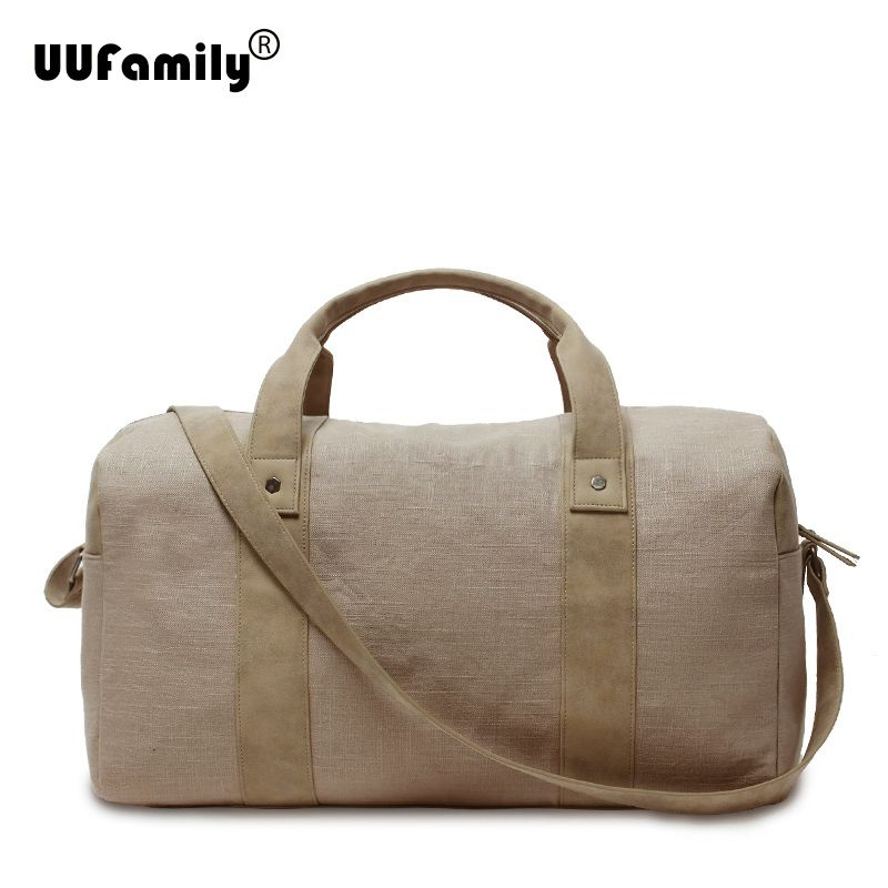 UU Family Mens Linen Large capacity Duffel Bag Travel Duffle Travel tote for men Weekender Luggage Bags Sac de Voyage hommes