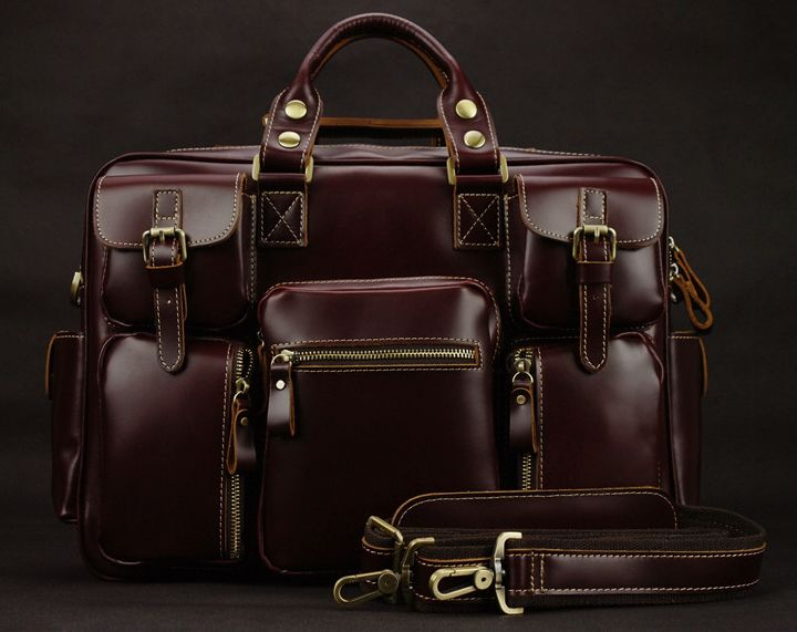 Luxury Genuine leather men travel bags luggage Bag Large Men duffle bag weekend leather travel bag Overnight tote Big M038