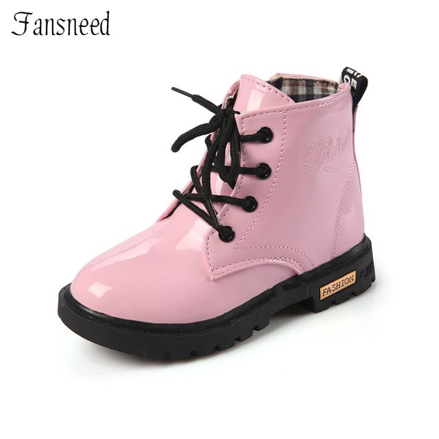 New children leather boots female child riding boots boys shoes little girl spring and  autumn winter boots