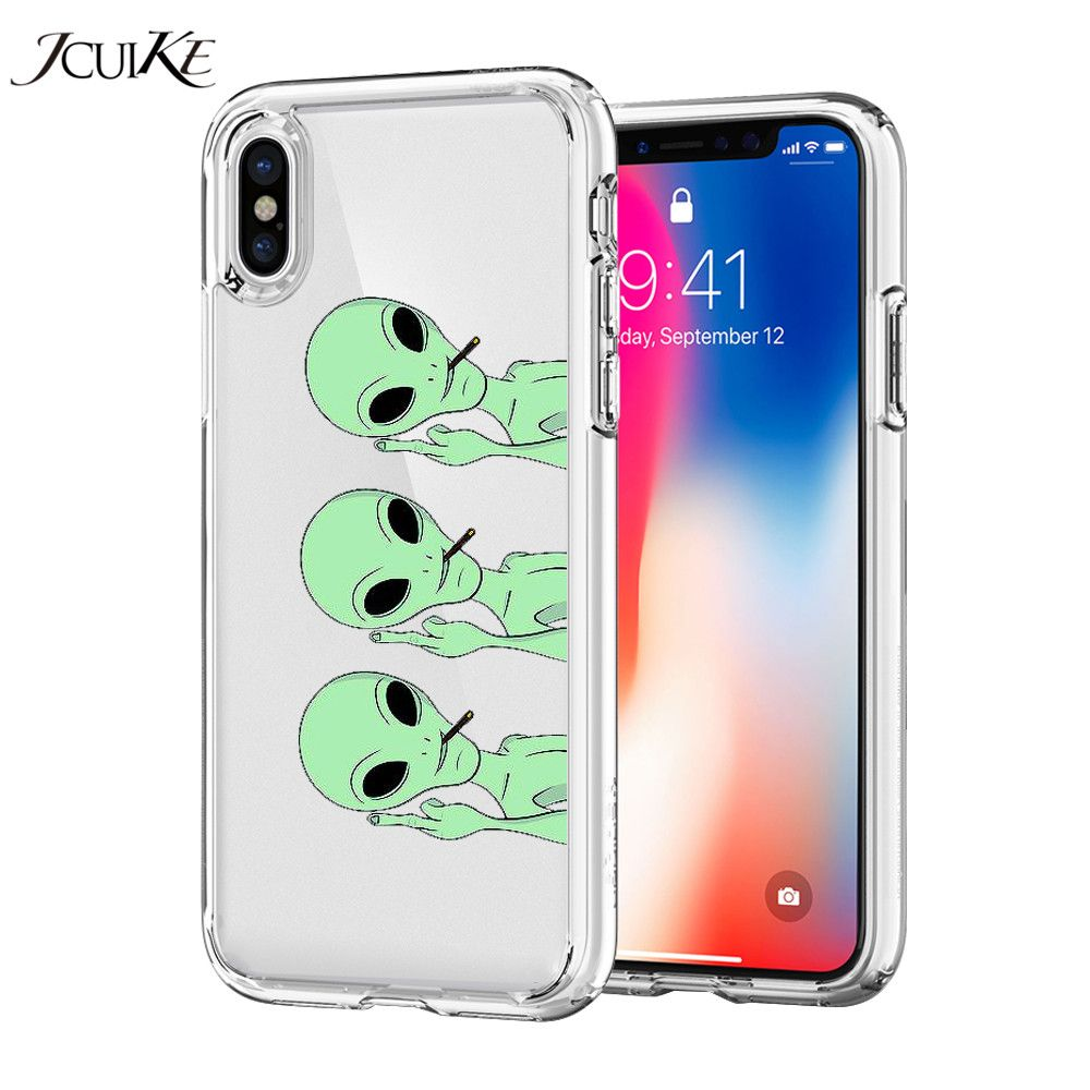 TPU Soft Shell Phone Cases Coque for iPhone X 5 5s se 6 6s 7 8 Plus Case Silicone Cute Flamingos Dog Panda Cat Alien Ultra Cover