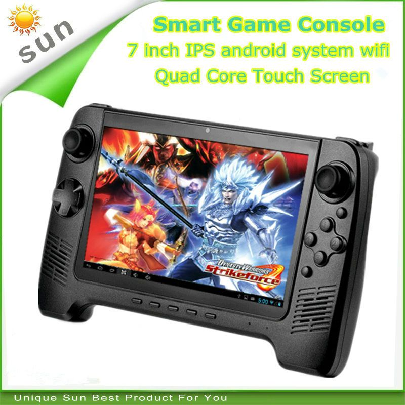 HaoLongGCP android game console Android tablet handheld game player 7 inch touch screen Quad Core 1G 8G 3500mAh