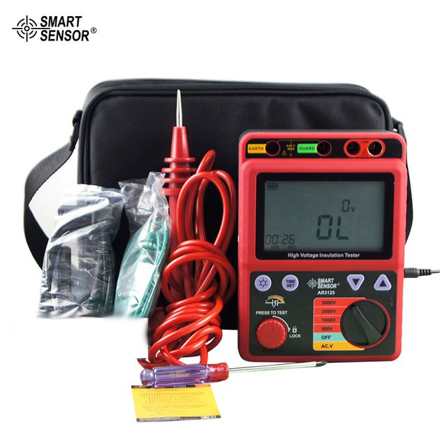 5000V Megohmmeter High Voltage Insulation Resistance Tester Smart Sensor AR3125