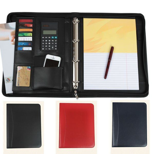 YBGYZP Business PU leather padfolio binder with handle, Manager Portfolio