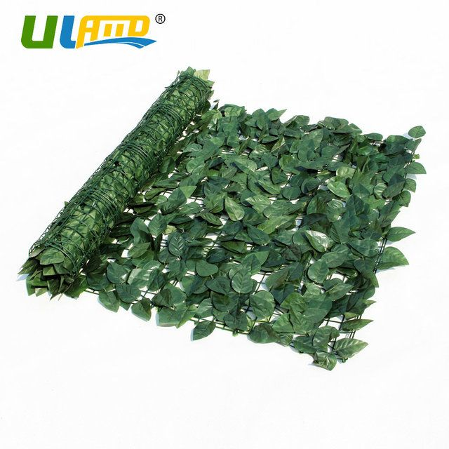 ULAND 1m*3m Balcony Garden Fence Artificial Boxwood Hedge Plastic Greenery Mats Grass Carpets Decoration Faux Ivy Privacy Screen