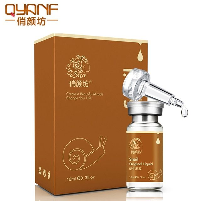 QYF Brand Snail Essence Face Serum Liquid Whitening Moisturizing Removing Red Blood Shrink Pores anti-aging Cream Skin Care