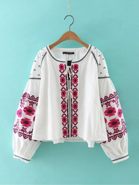 Vintage Hippie Boho Bohemian Ethnic Gypisy Embroidered Tunic Kimono Cardigan Roupas Femininas Cotton Shirt Blouse Women Tops