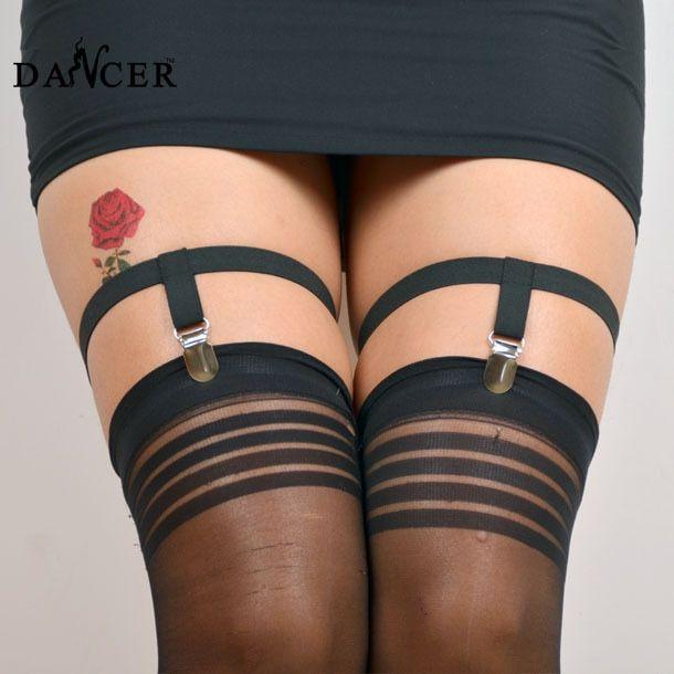 2014New Leg garter  fashionable sexy circular  black  spandex  harness  for female