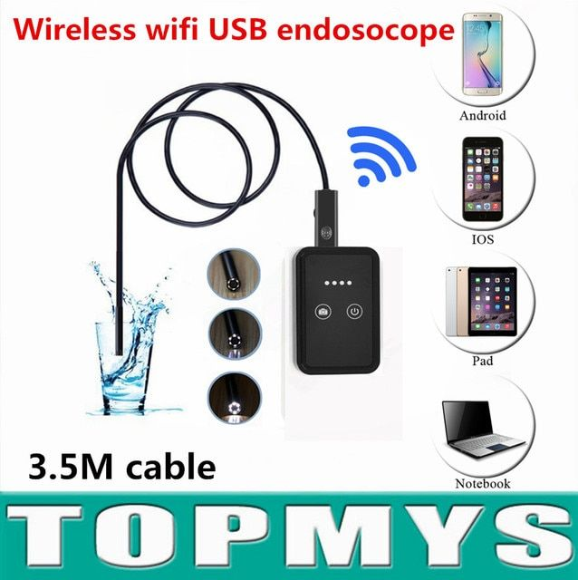 Android IOS USB camera TM-WE9 USB endoscope with wifi box 3.5M Cable 9mm Lens wireless wifi mini pinhole camera snake camera