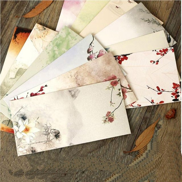 Free Shipping 30Pcs/Lot Chines Style Paper Envelopes For Invitations Wedding Invitation Envelope Set Envelope Gift Envelopes