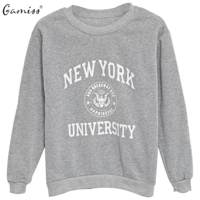 Gamiss New Harajuku Women Hoodies Sweatshirts Letters Printed Casual Pullover Women Autumn Winter Fleece Sweatshirts Plus Size