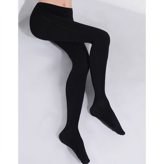 2017 2Pcs Women 150D  Microfiber Thermo Fleece Lined Tights Thermo Pantyhose in Solid Black Color Super Soft and Warm for Winter