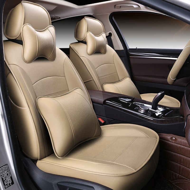 ( Front + Rear ) Special Leather car seat covers For peugeot All Models 205 307 206 308 407 207 406 408 301 607 3008 4008 auto