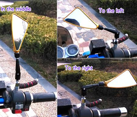 Free shipping, 2 pcs/set MOTORCYCLE  side Mirrors Scooter, easy to install, for motorbike 125 150 motors  4 colors