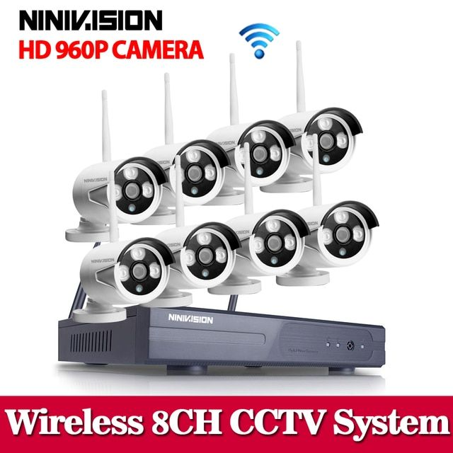 NINIVISION 8CH IR HD Home Security Wifi Wireless IP Camera System 960P CCTV SET 3G WIFI Outdoor HD NVR Surveillance cctv Kit