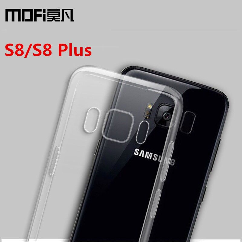 for Samsung S8 case Samsung Galaxy S8 Plus case cover silicon TPU soft back phone capas transparent protection MOFi original S8+
