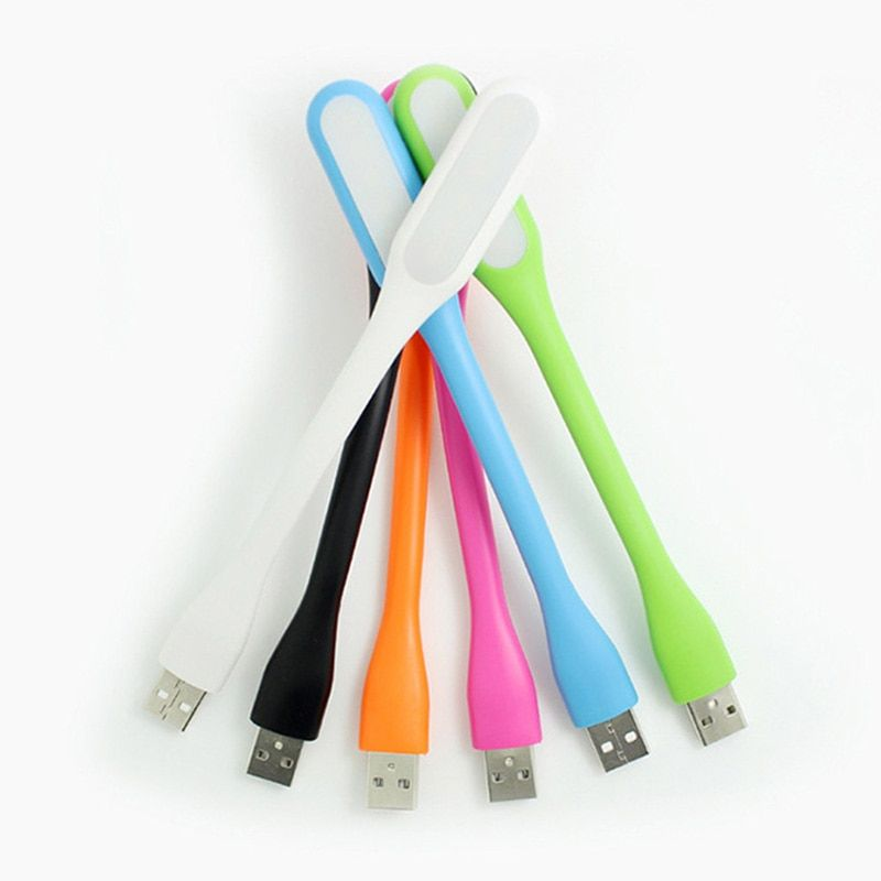 Flexible USB LED Night USB light Book lamp For Laptops Notebook Mobile Power Charger Camping Book Reading Bulb Nightlight