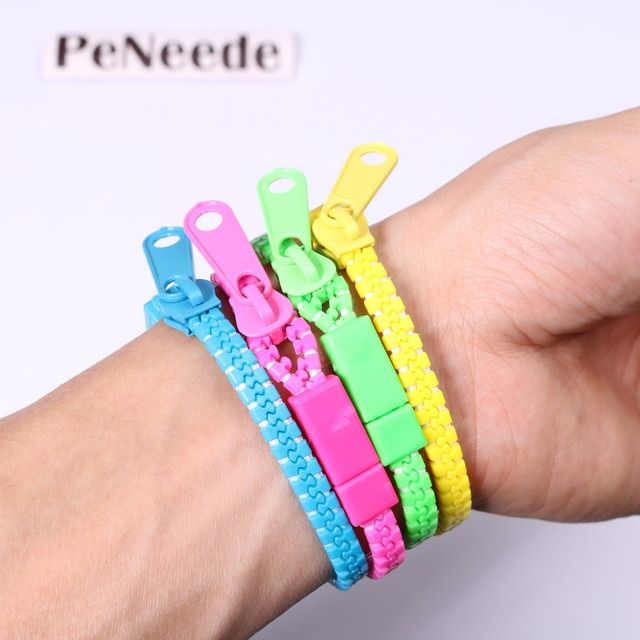 10pcs/set Zipper Bracelet Fidget Products Toy Kids Children Hand Sensory Toys Stress Relief/ Better Focus/ Killing Time oyuncak