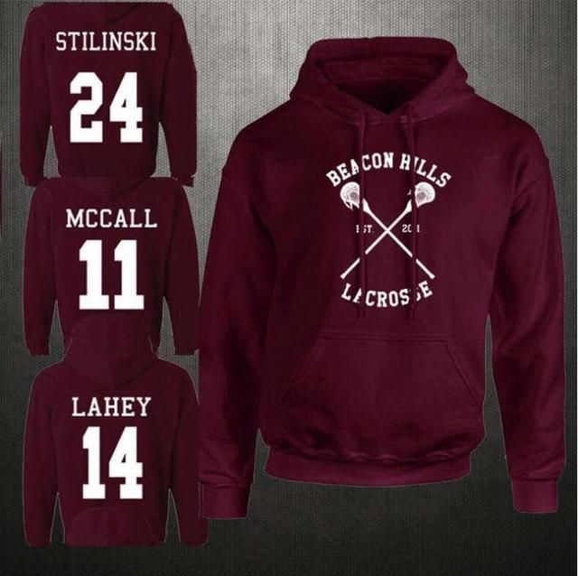 JOYINPARTY Fashion Beacon Hills Lacrosse Sweatshirts teenager with long sleeves Wolf Stilinski McCall Lahey Mens Hoodie Tops