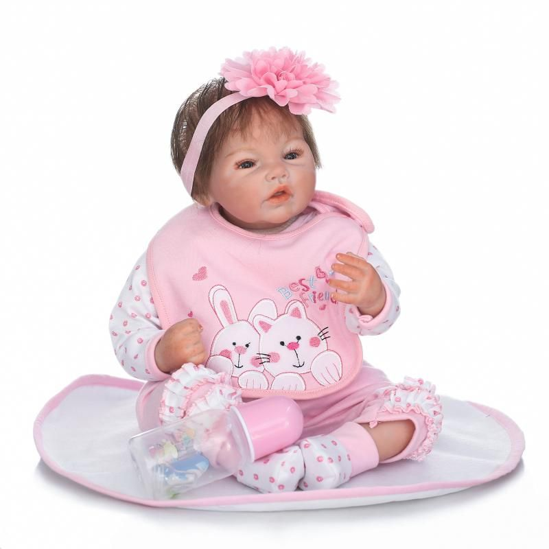 "New High-end 50cm Silicone Vinyl Reborn Baby Doll 20"" Lifelike Newborn Baby Doll Collectible Educational Nursery Doll Toys Gifts"
