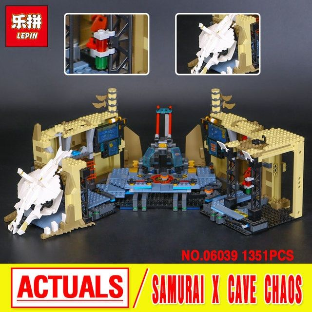 2016 LEPIN 06039 Samurai X Cave Chaos Model Assembled Building Kit  Blocks Bricks Toy Compatible 70596 Educational Funny Toys