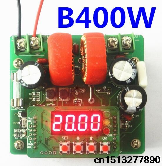 5pcs/lot  B400W CNC  DC-DC power supply voltage current control adjustable tester digital controlled with 4 bits LED diplay