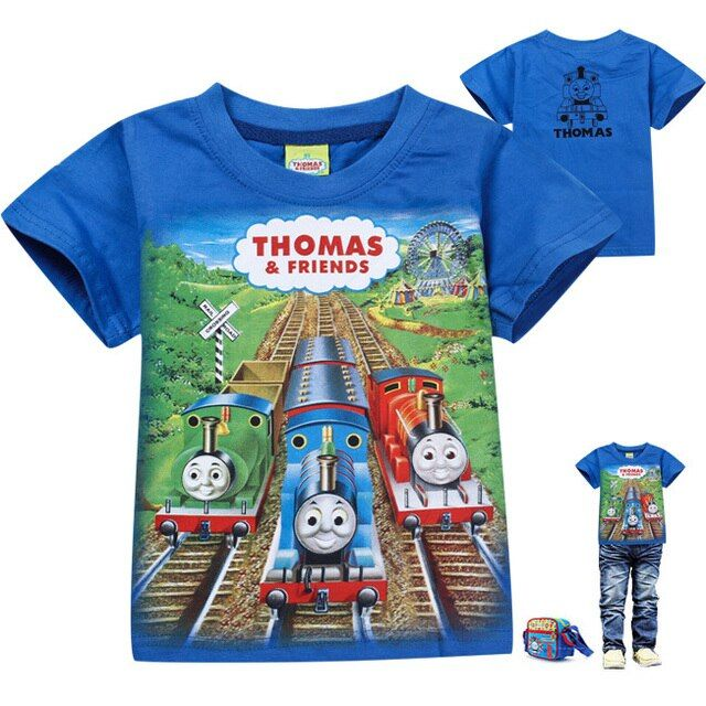 Retail short sleeve cartoon  friend boys T Shirts Kids 2014 New Cartoon Summer Children's Clothing Tops & Tees