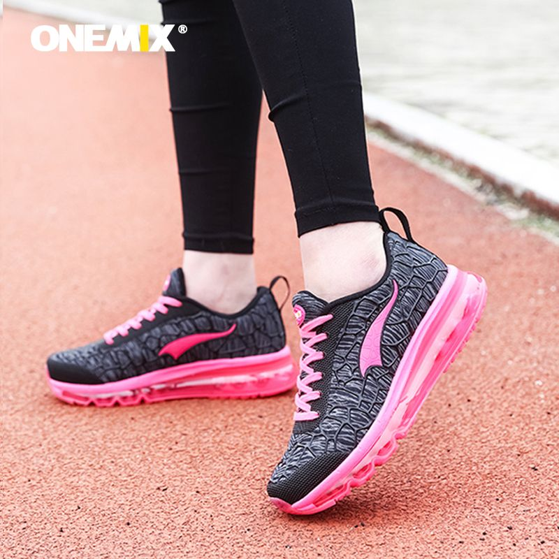 ONEMIX 2018 women's running shoes Breathable Mesh Athletic Shoes for air Cushion women Sneakers Outdoor Sneakers Run Comfortable