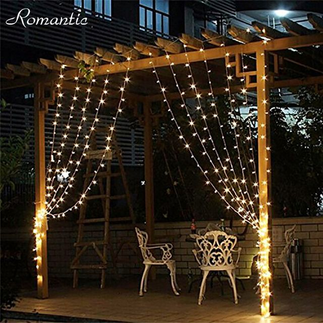 3*1 M 160 Leds Fairy String Christmas Icicle LED Curtain Light Warm White Multi Color For Wedding Lights Outdoor Lighting