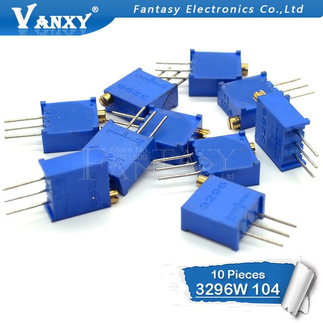 10pcs 3296W-1-104LF 3296W 100K ohm 104 3296W-1-104 3296W-104 W104 Trimpot Trimmer Potentiometer