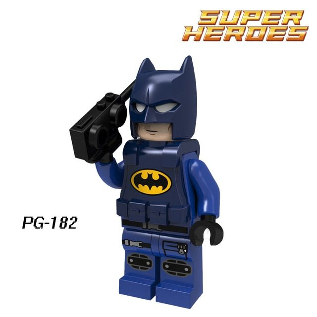 Police Batman with Cellphone PG182 DC Classic Figures Model Action Bricks Building Blocks Kids DIY Toys Hobbies