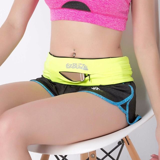 Professional Multifunction Running Waist Bag Elasticity Womens Gym Fitness Pocket For 5.5 Inch Phone Jogging Sport Purse