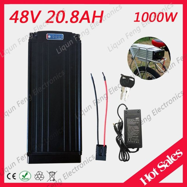 Ebike Lithium Battery 48V 20AH Lithium Bicycle 48V 20AH Electric Scooter Battery For Kit Electric Bike 1000W With BMS  Charger