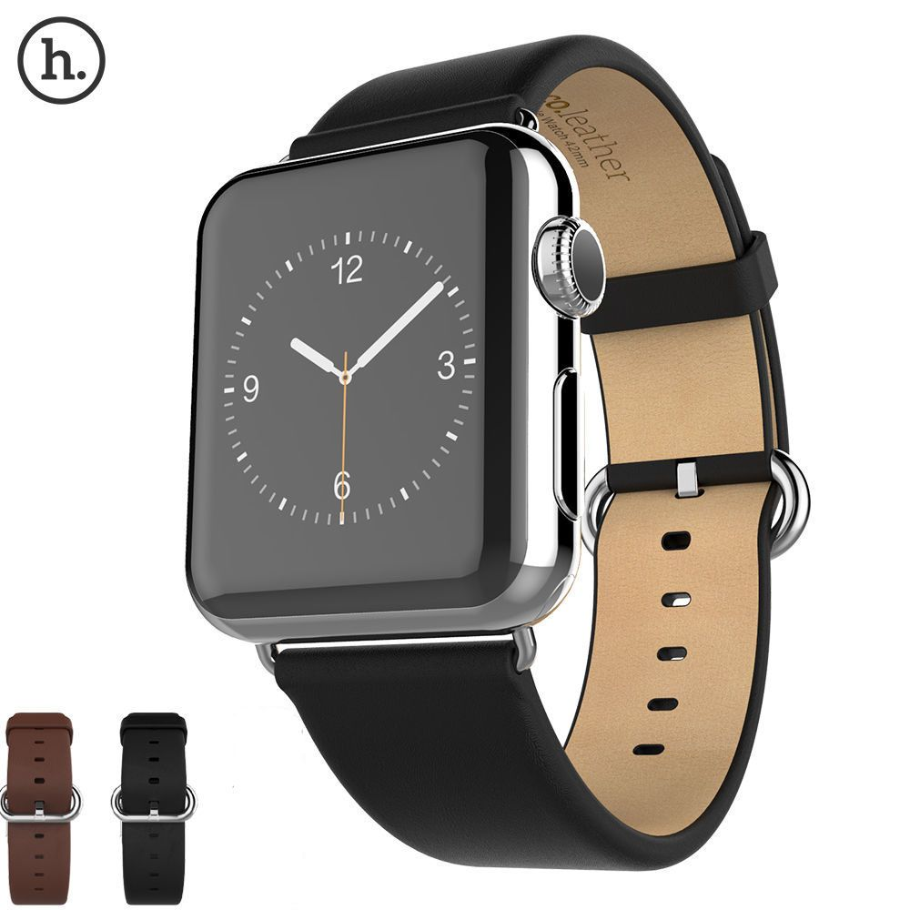 HOCO Classic First Layer Cattle Genuine Leather Watch Band For Apple Watch Series 1 2 3 4 Strap For Apple Watch iWatch Belt