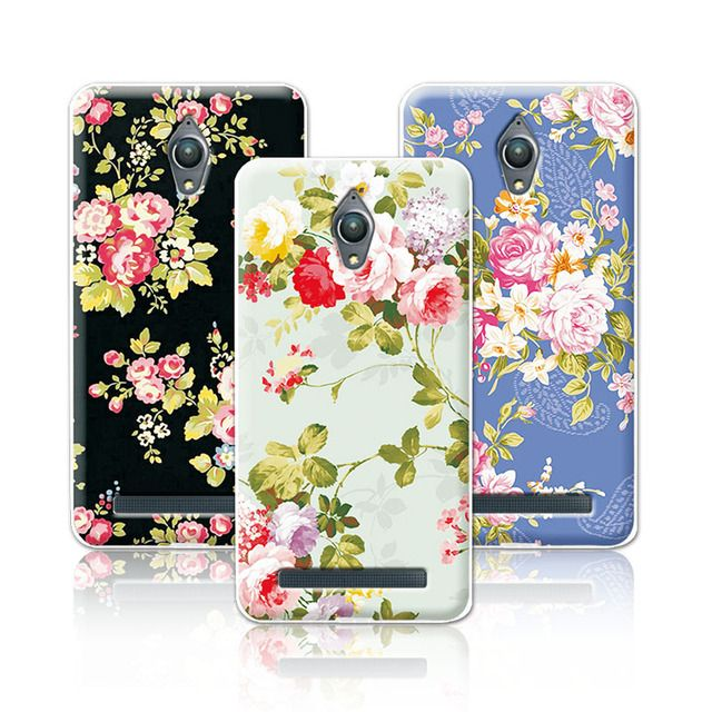 "Luxury Floral Painted Case For coque Asus ZenFone Go ZB500KL ZB500KG Case Cover Art printed Flower funda ZenFone ZB500K 5""+Gift"