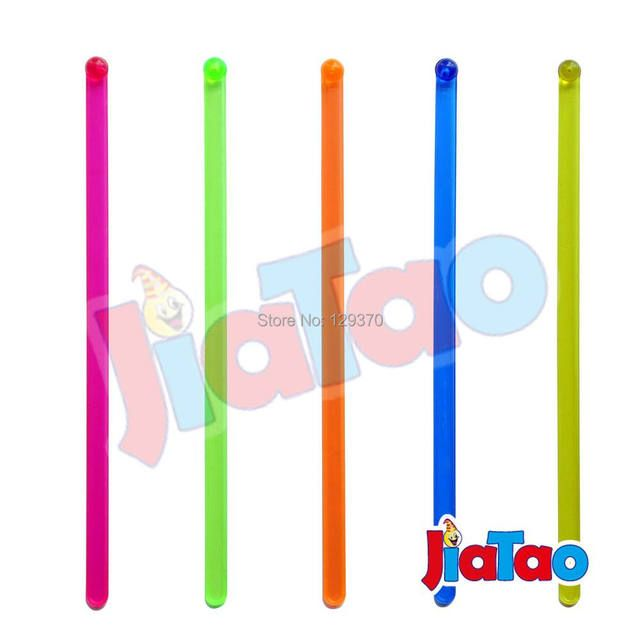 50PCS/LOT Plastic Cocktail Swizzle Sticks Drink Stirrer Coffee muddler puddler Solid Color
