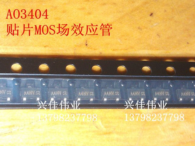 Chip Transistor AO3404 A49T SOT23 Tube N - Channel 30V 5.8A